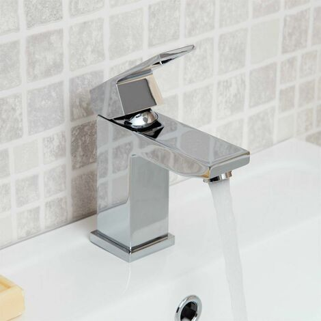 Grohe EUROCUBE Basin Mixer Tap, 1/2 Inch S-Size, No Waste, Chrome