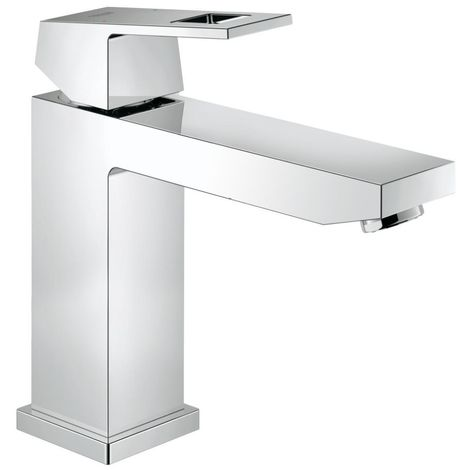 Grohe EUROCUBE Basin Mixer Tap, 1/2 Inch S-Size, with Pop Up Waste, Chrome