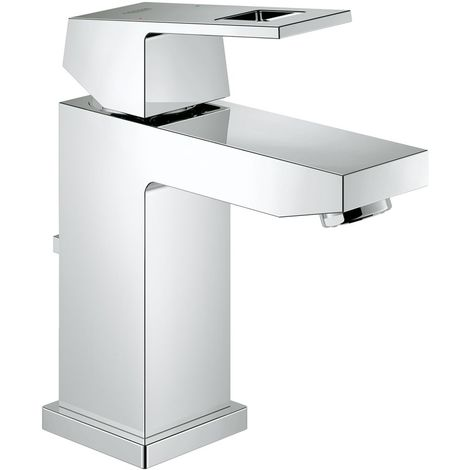 Grohe Eurocube single-lever basin mixer, S-size, with waste, without flow restriction - 23127000