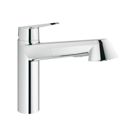 Grohe Eurodisc Cosmopolitan Single lever sink mixer pull-out spray, low pressure - 31121002