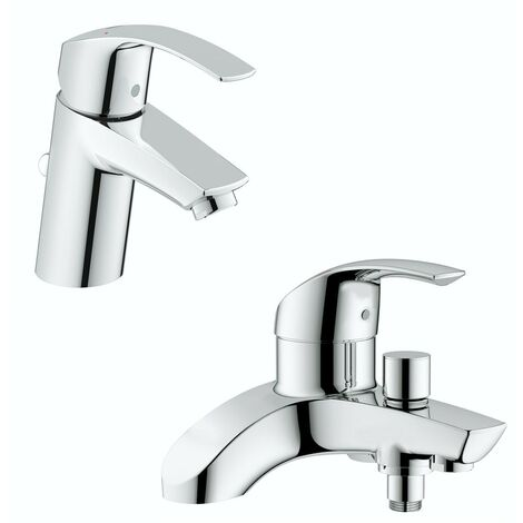 Grohe Eurosmart basin and bath shower mixer tap pack