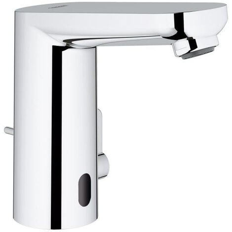 Grohe Eurosmart Cosmopolitan E Infra-red electronic basin mixer with mixing device and adjustable temperature limiter