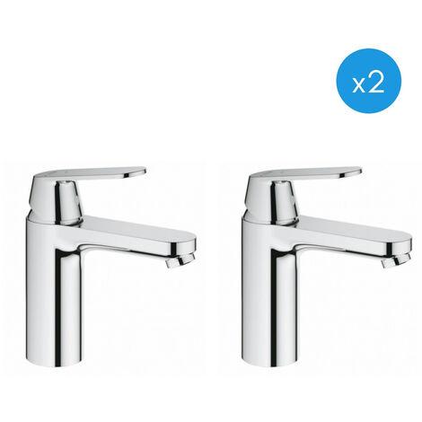 Grohe Eurosmart Cosmopolitan - Lot de 2 mitigeurs de lavabo CE, chrome (2339800E-DUO)