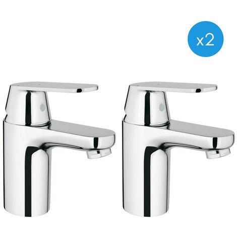 Grohe Eurosmart Cosmopolitan - Lot de 2 mitigeurs de lavabo ES, chrome inoxydable (2337600E-DUO)