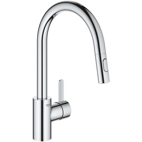 """main image of """"Grohe Eurosmart Cosmopolitan Single-lever Kitchen mixer with pull-out 2 jets, Gooseneck, Chrome (31481001)"""""""
