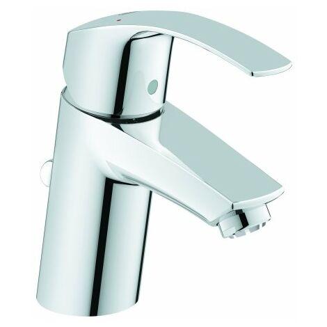 Grohe Eurosmart Mezclador monomando para lavabo, tamaño S con desagüe automático, para calentadores de agua abiertos - 23459002