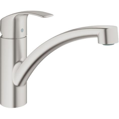 """Grohe Eurosmart Single-lever sink mixer 1/2"""" SuperSteel (33281DC2)"""