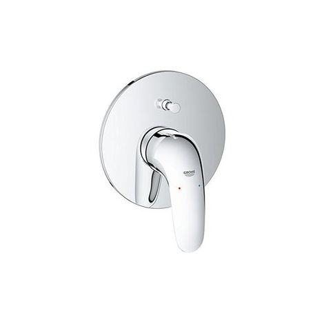 Grohe Eurostyle single lever bath mixer ready to install, closed lever handle