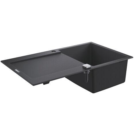 Grohe - Evier 1 cuve avec égouttoir K500 en composite noir granit