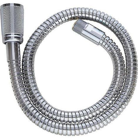 """Grohe flexible de douche metallique 1/2""""filet femx15x1mm Longueur 700mm pour mitigeur monocommande chrome"""