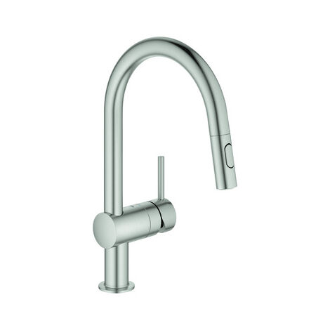 Grohe Focus single lever kitchen mixer with pull-out spray chrome (32321002)
