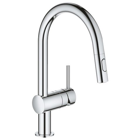 Grohe Focus Single Lever Kitchen Mixer With Pull Out Spray