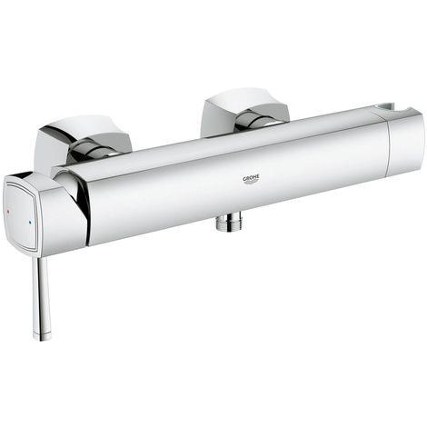 Grohe Grandera Einhand-Brausebatterie DN 15, Wandmontage, integrierter Handbrausehalter, Farbe: Chrom - 23316000
