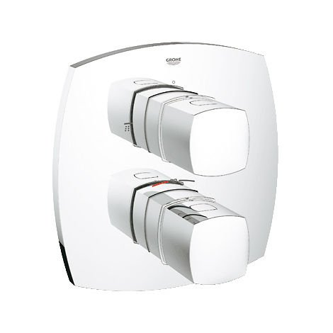 Grohe Grandera thermostatic bath mixer with integrated 2-way switchover