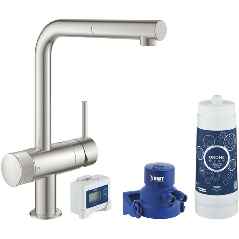 Grohe GROHE Blue Pure Minta Starter Kit GROHE Blue (30382DC0) color Inox mate