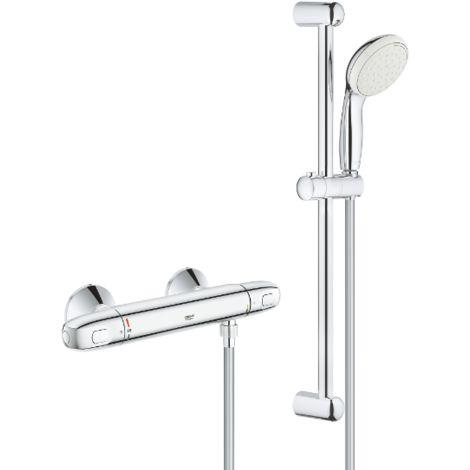 Grohe Grohtherm 1000 Conjunto de ducha con termostato de ducha 1/2″ 34151004 | Cromado
