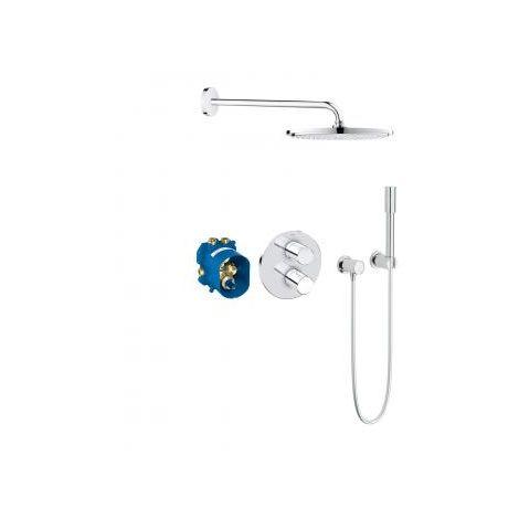 Grohe Grohtherm 3000 Cosmopolitan système de douche encastré avec Rainshower Cosmopolitan 310 rosette ronde avec pomme de douche manuelle - 34630000