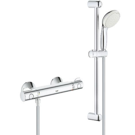Grohe Grohtherm 800 Conjunto de ducha con termostato de ducha 1/2″ 34565001 | Cromado