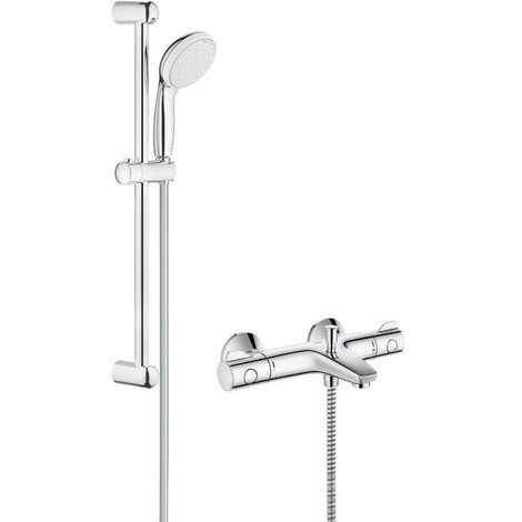 Grohe Grohtherm 800 Thermostatic Bath Shower Mixer Set with Tempesta Riser Rail