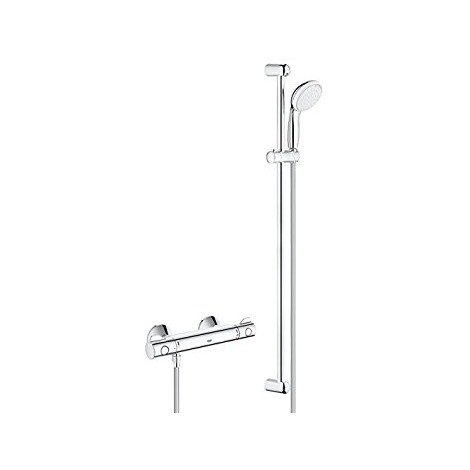 """Grohe Grohtherm 800 Thermostatic shower mixer 1/2"""" with shower set, Chrome (34566001)"""