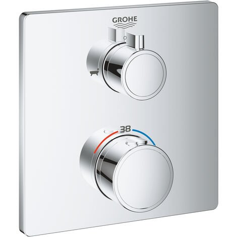 Grohe Grohtherm Mezclador termostático de baño con desviador integrado de 2 vías, cromado - 24080000