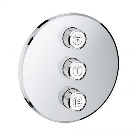 Grohe Grohtherm SmartControl 3-way concealed valve, round wall rose