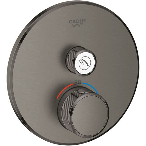 Grohe Grohtherm SmartControl Safety mixer for concealed installation with one valve, Brushed hard graphite
