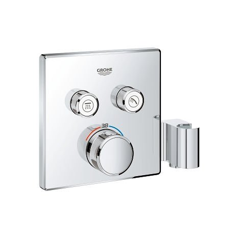 Grohe Grohtherm SmartControl Thermostat for concealed installation with 2 valves and integrated shower holder