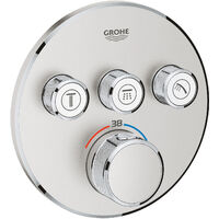 Grohe Grohtherm SmartControl Thermostat for concealed installation with 3 valves, Supersteel (29121DC0)