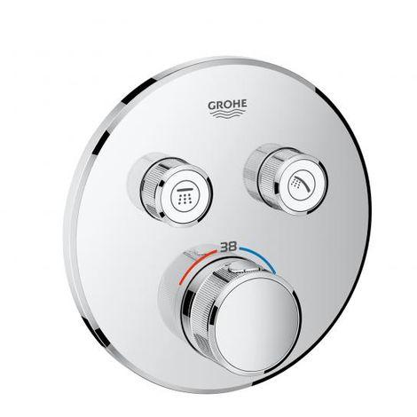 Grohe Grohtherm SmartControl Thermostat mit zwei Absperrventilen, Wandrosette rund