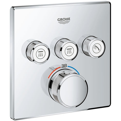Grohe Grohtherm SmartControl Thermostat with three shut-off valves