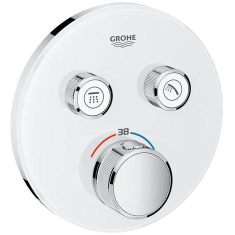 Grohe Grohtherm SmartControl Thermostatique encastré 2 sorties blanc lune/chrome 29151LS0 | 2 USCITE - Moon white