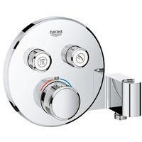 Grohe Grohtherm SmartControl Thermostatique pour installation encastrée 2 sorties avec support de douche integré (29120000)