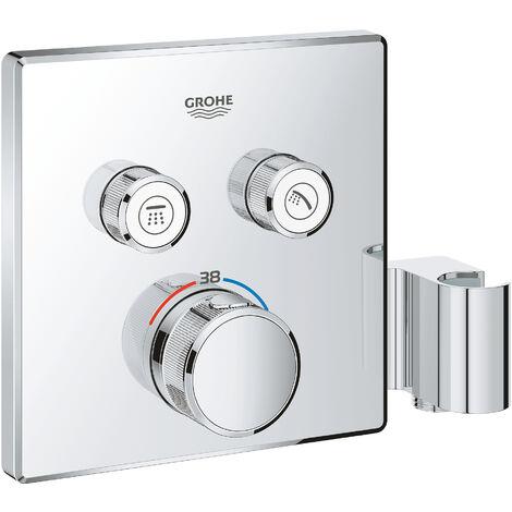 Grohe Grohtherm SmartControl Thermostatique pour installation encastrée 2 sorties avec support de douche integré (29125000)