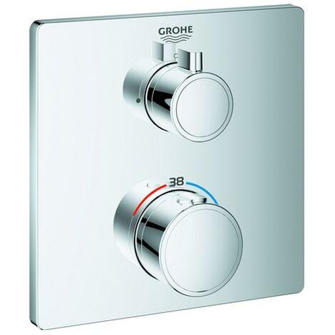 Grohe Grohtherm Thermostat-Brausebatterie für Rapido SmartBox, 1 Verbraucher, chrom 24078000 - 24078000