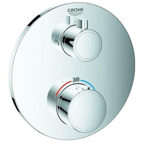 Grohe Grohtherm Thermostat-Brausebatterie für Rapido SmartBox, mit integrierter 2-Wege-Umstellung, 2 Verbraucher, chrom - 24076000