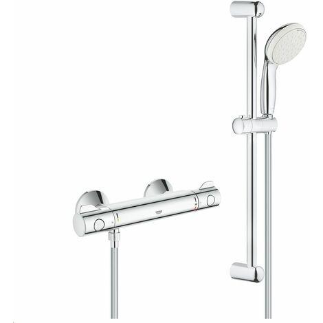 """GROHE Grotherm 800 mitigeur thermostatique douche 1/2"""" avec ensemble de douche"""