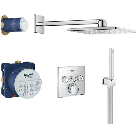 Grohe Grotherm SmartControl Perfect Shower Cube Square Set with Rainshower 310