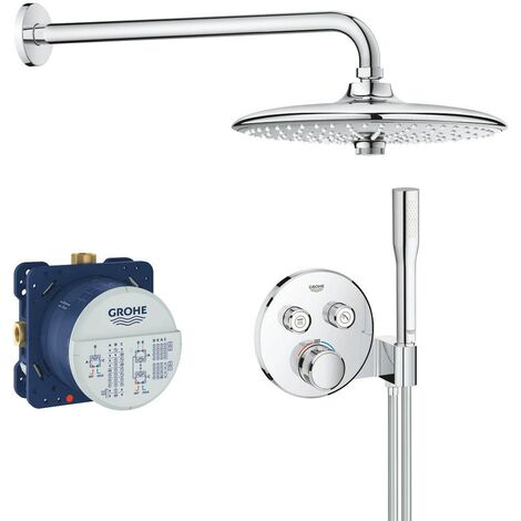 Grohe Grotherm SmartControl Perfect Shower Round Set with Euphoria 260 Head