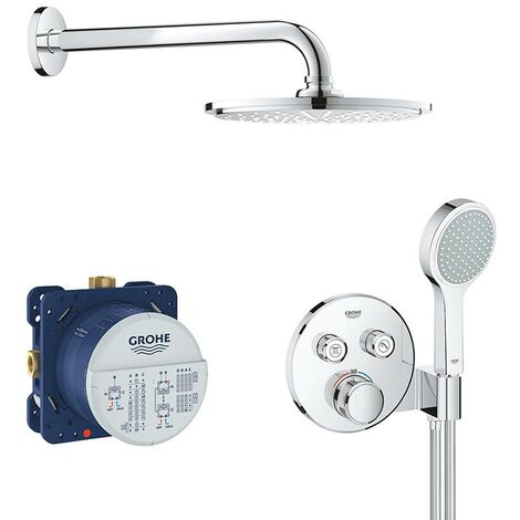 Grohe Grotherm SmartControl Perfect Shower Round Set with Rainshower 210