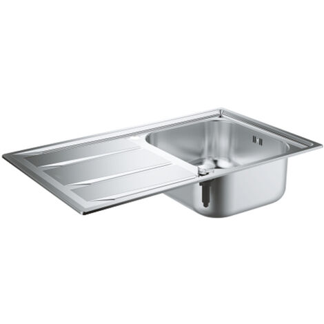 GROHE K400 Stainless steel sink with drainer, 860x500 mm