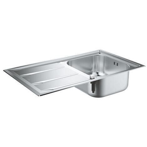 Grohe K400+ Stainless steel with automatic drain, 873x513 mm