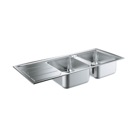 Grohe K500 Stainless steel sink with drainer, Stainless Steel (31588SD0)