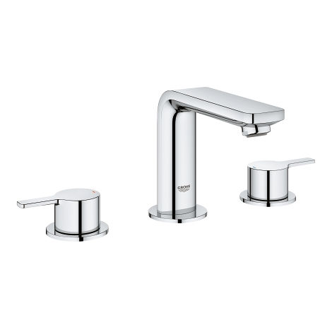 Grohe Linear 3-hole basin mixer, with drain set - 20304001