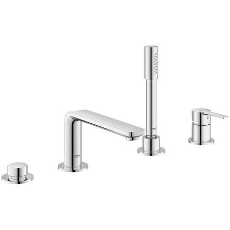 Grohe Lineare 4-hole single-lever bath combination