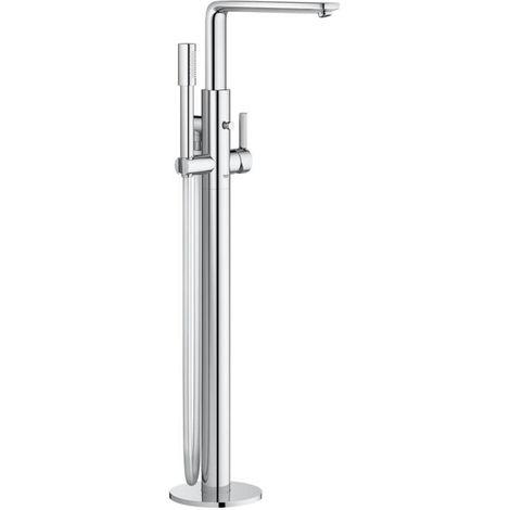 """Grohe Lineare Nouveau mélangeur de bain à levier simple 1/2 """", monté au sol (23792001)"""