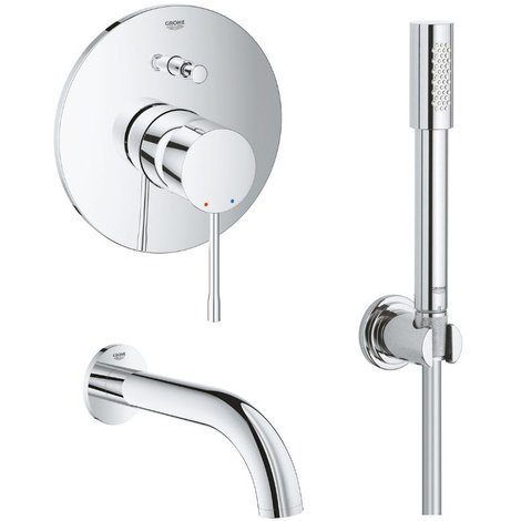 Grohe - Lot complet robinet bain encastrable Grohe Essence