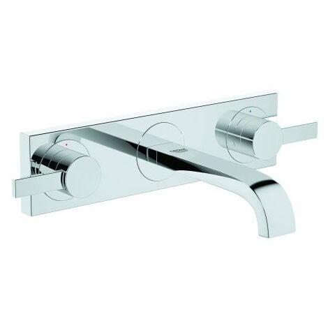 Grohe Mélangeur lavabo 3 trous Allure, mural, saillie 172mm - 20189000