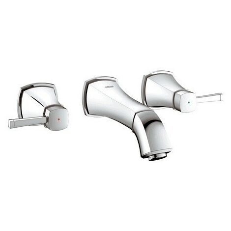 Grohe Mélangeur lavabo 3 trous Grandera, DN 15, montage mural, saillie 234mm, Coloris: chrome - 20415000