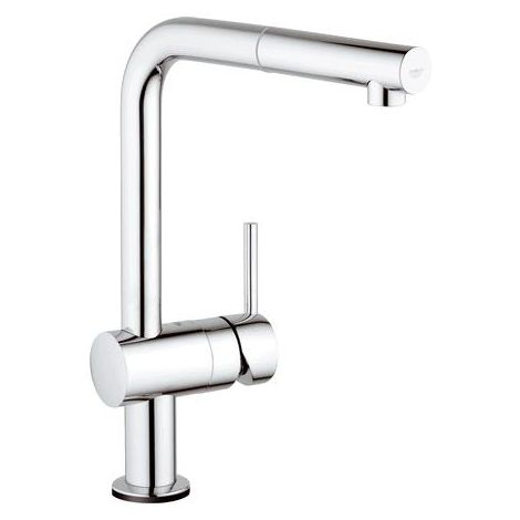 Grohe Minta Touch Electronic sink mixer high spout, pull-out mousse spout